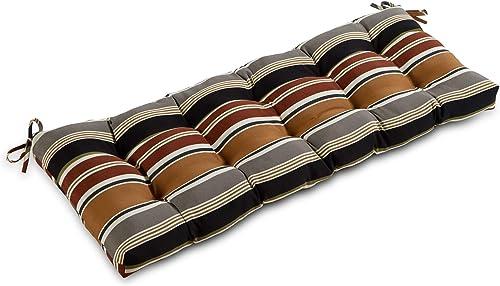 South Pine Porch AM5812-Brick Brick Stripe 51-inch Outdoor Bench Cushion