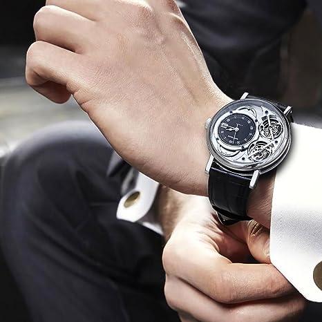 Analog Automatik Tiger Uhr Leder Armband Herren Rga1995 Reef Mit OZikXTPu