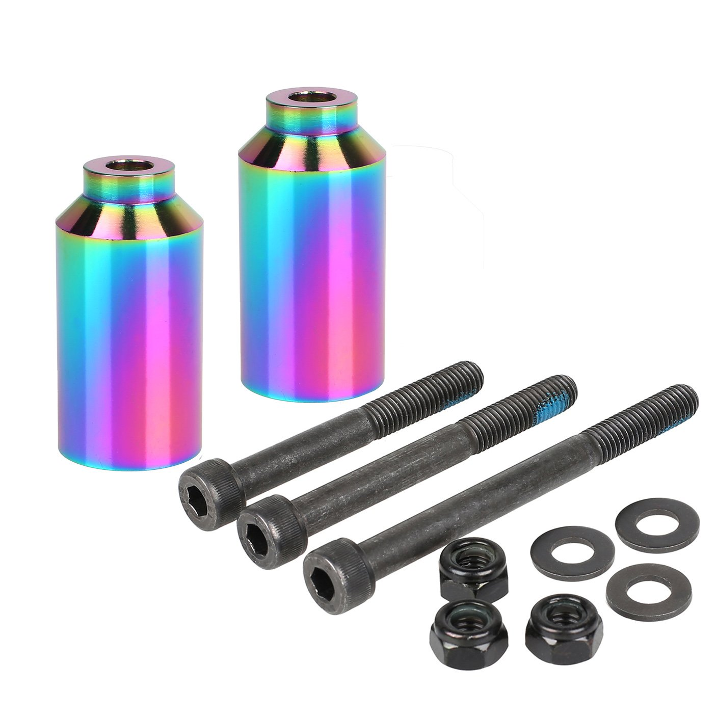 Kutrick Pro Scooter Pegs Set with Axle Hardware 2.5'', 3.0'',3.5'' for Freestyle Scooter Grinds