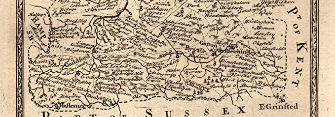 Guildford-Godalming-Chiddingfold-Midhurst-Chichester OWEN//BOWEN road map 1753