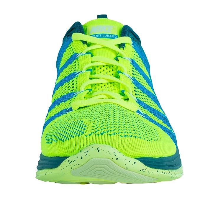 online store 4228c 3e696 ... france nike flyknit lunar2 mens running shoes 620465 714 volt 10. 5 m  us buy