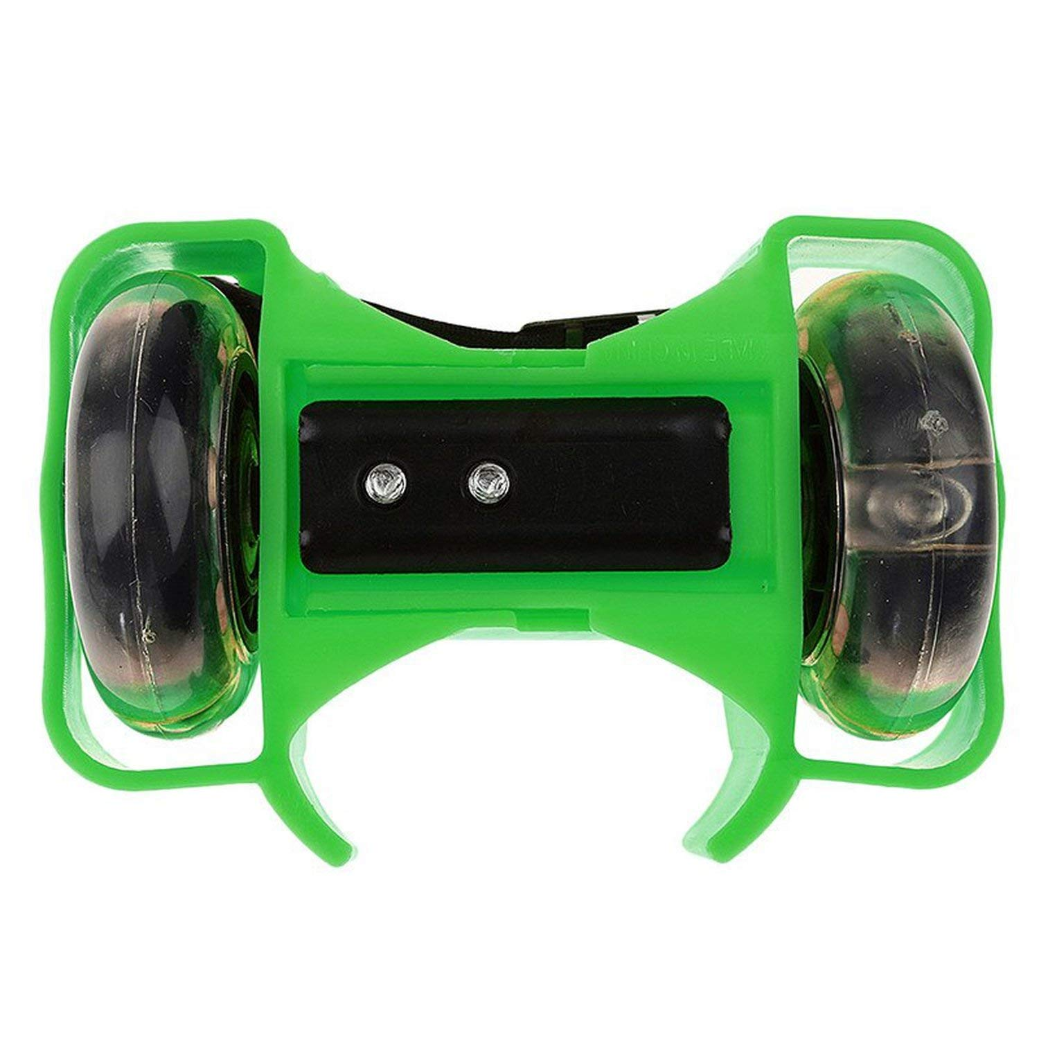 From Zero Skates 5-Colors Light Flashing Roller Small Whirlwind Pulley Adjustable Simply Roller Skating Shoes with Dual Wheels for Children New,Green