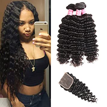 3/4 Bundles With Closure Charitable Peruvian Kinky Curly Human Hair Bundles With Frontal Non Remy Kinky Curly Bundles With Closure Lace Frontal With Bundles
