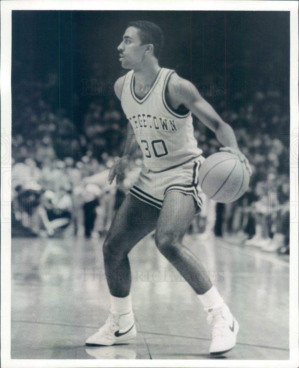 Amazon 1984 Press Photo Georgetown Hoyas Basketball Michael Jackson