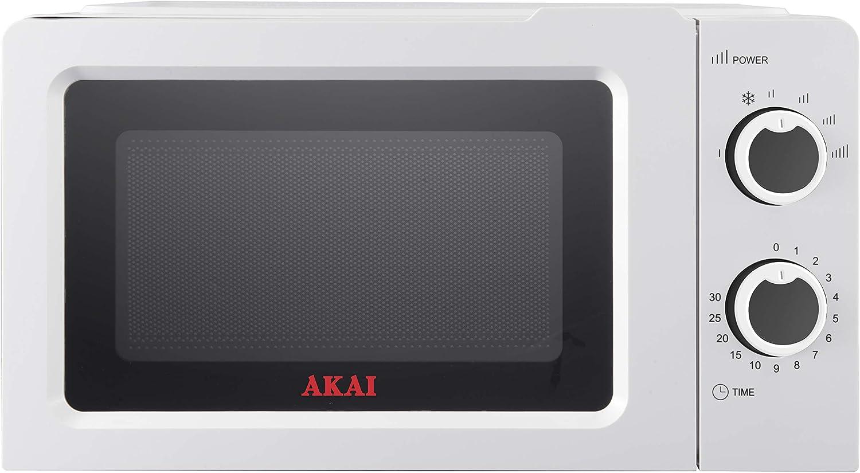 Akai AKMW20SG - Horno microondas (20 L, 700 W, acero inoxidable)