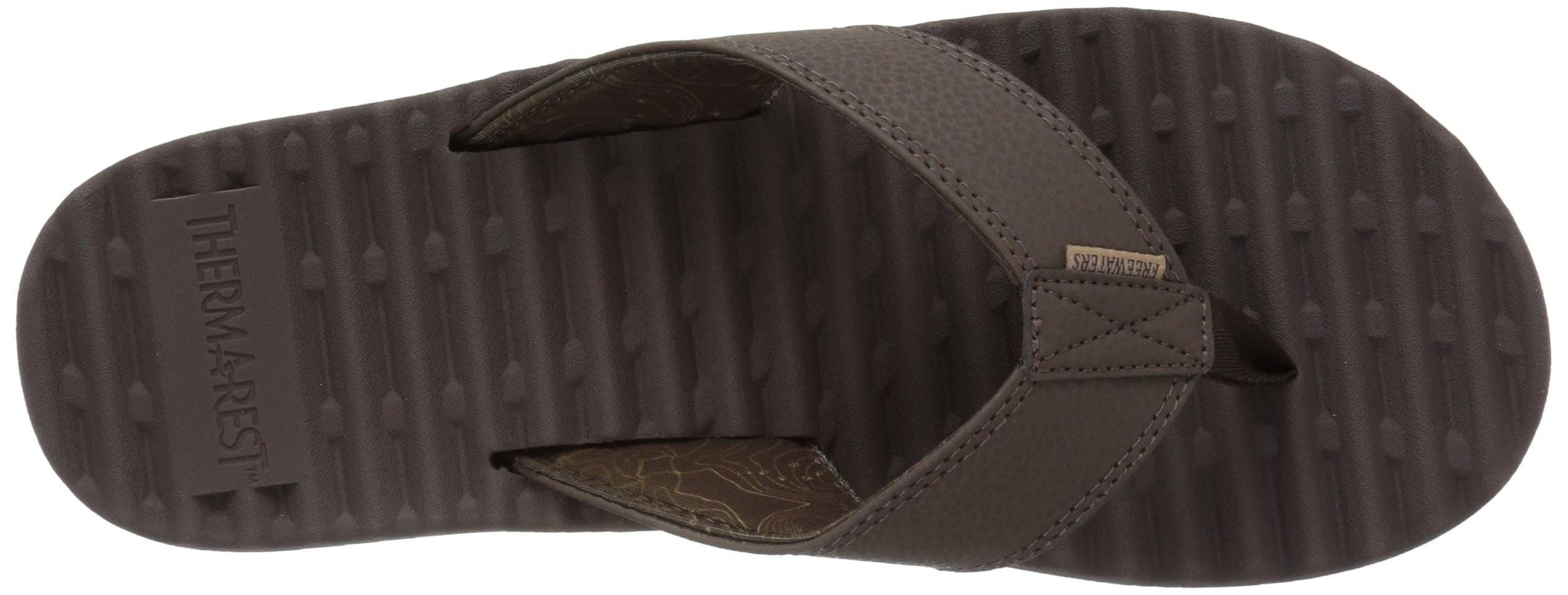 Freewaters Men's Basecamp Therm-a-Rest Flip Flop Sandal, Brown, 10 M US by Freewaters (Image #8)