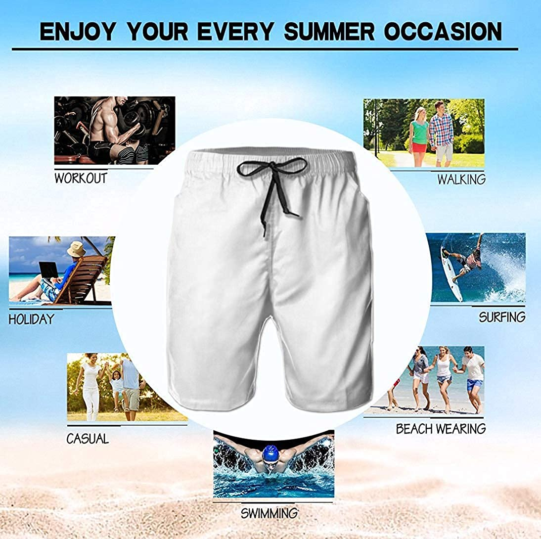 Trikahan Mens Boardshorts Skull and Flower Quick Dry Board Shorts Beach Shorts Swimwear Swim Trunks Surfing Suit