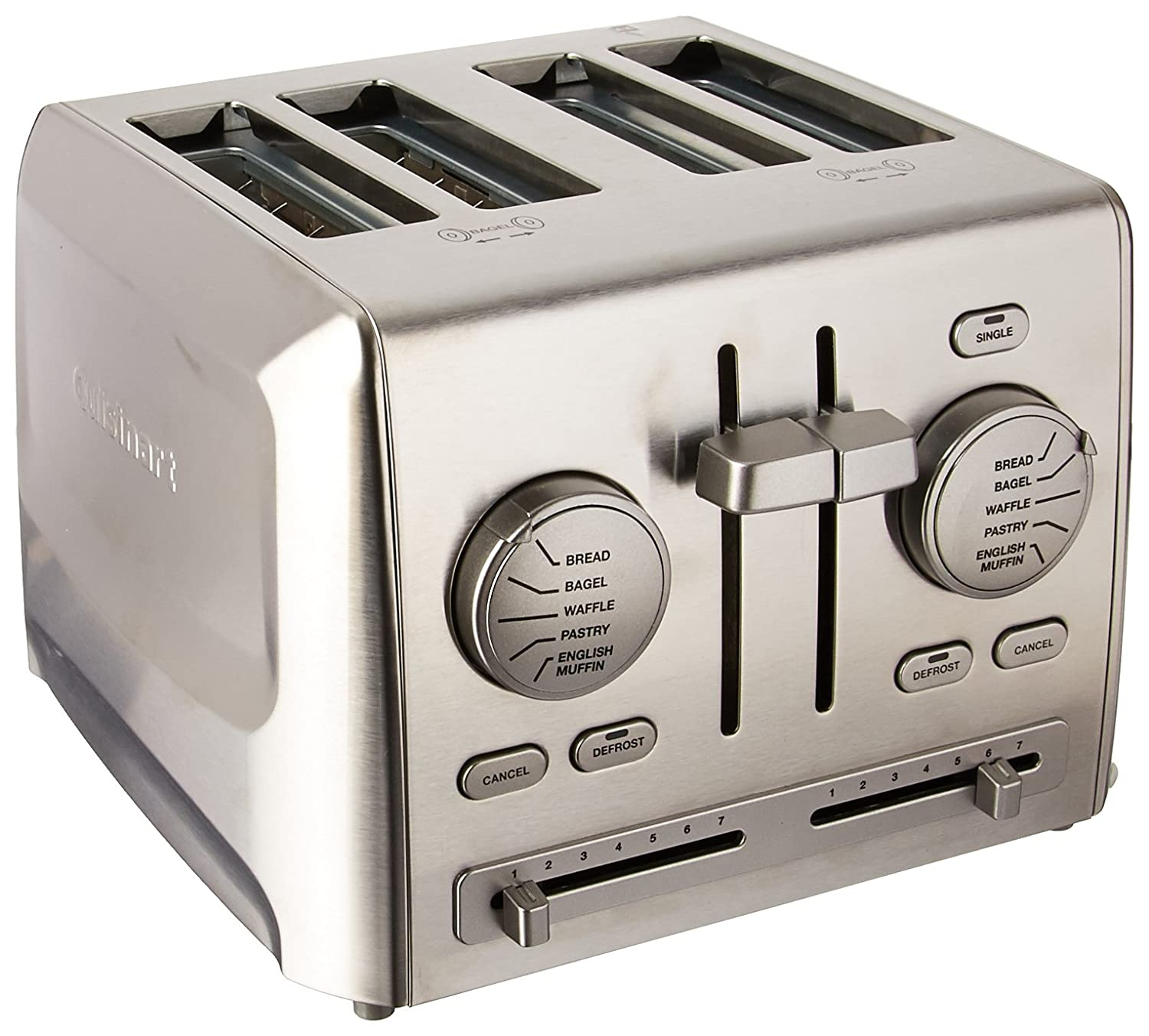 Cuisinart 086279087959 CPT-640 4-Slice Metal Toaster, Stainless Steel