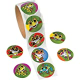 Fun Express Frog Stickers - 100 Piece Roll