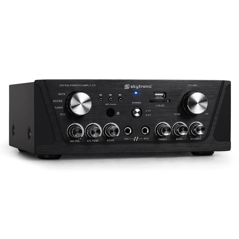 Receptor HiFi Skytronic - MP3-USB-SD, karaoke, compacto Skytec