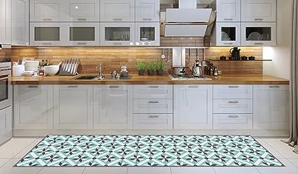 Tappeto cucina lavabile in lavatrice, passatoia cucina, 52x180 cm ...