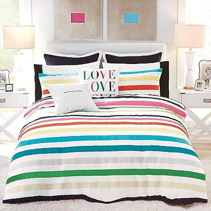 Amazon Com Kate Spade Candy Stripe Comforter Set Twin Twin Xl
