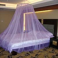 Neruti Enterprise Nylon Adults Double bed (Round) Mosquito Net(Purple)