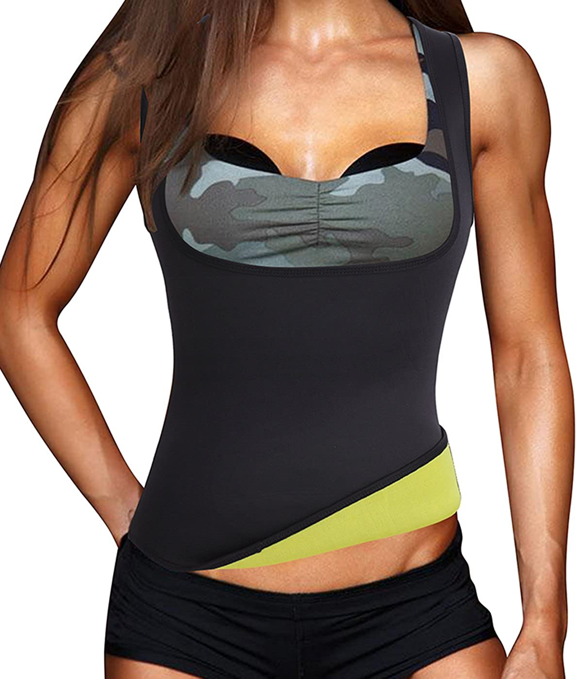 TrainingGirl Women Hot Slimming Sauna Sweat Vest Neoprene Body Shaper for Weight Loss Tummy Fat Burner Workout Tank Tops
