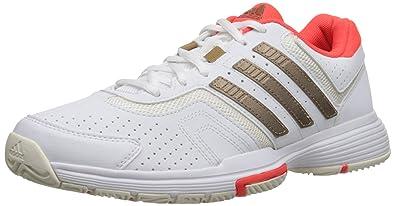 f9a93f81 adidas Performance Women's Barricade Court W Tennis Shoe,  White/Copper/Solar Red,