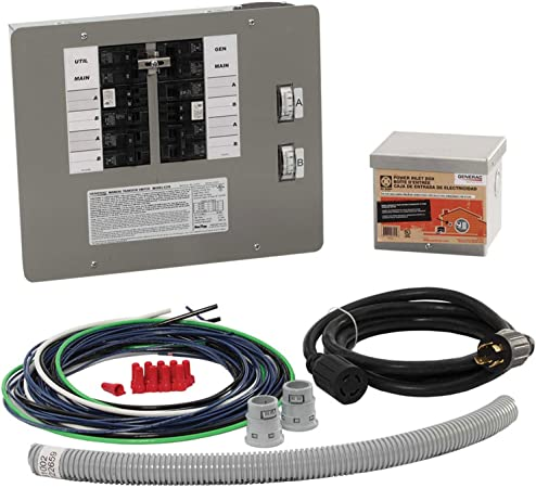 Amazon Com Generac 6295 30 Amp 10 16 Circuit Manual Transfer Switch Kit For Portable Generators Garden Outdoor