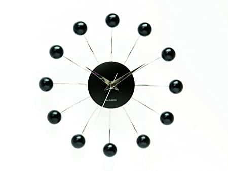 Delightful Karlsson Wall Clock Spider, Black Design