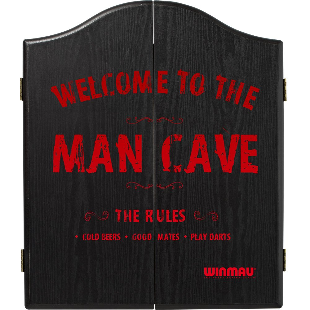 Winmau Man Cave Dartboard Cabinet - to fit all bristle dartboards - The Rules Darts Corner