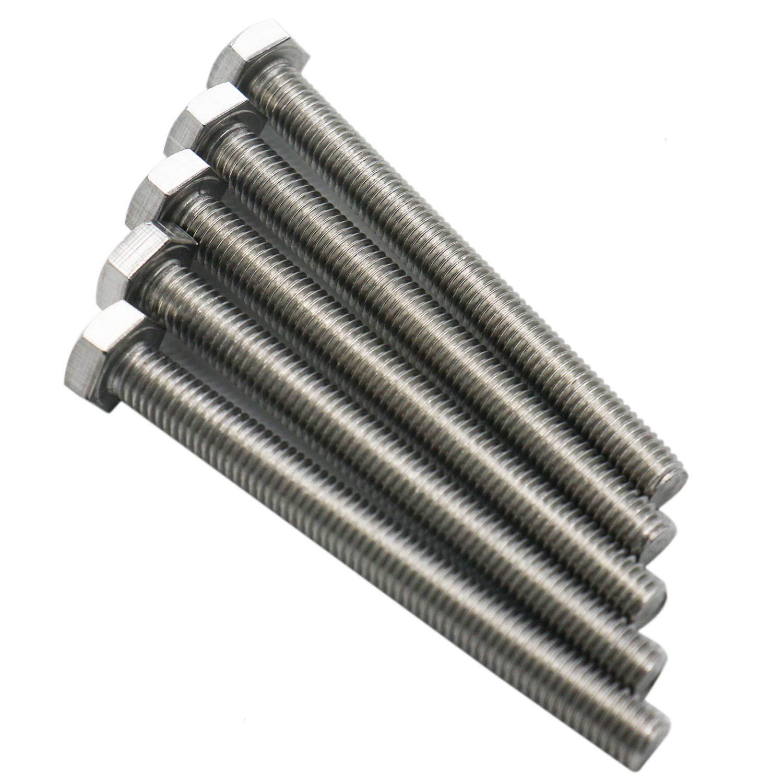 5pcs 304 Stainless Steel Fully Threaded Screw Bolt HUELE Hex Head Screw Bolt M880 mm
