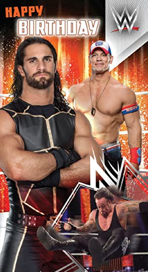 Wwe Wrestling Happy Birthday Card Amazon Office Products