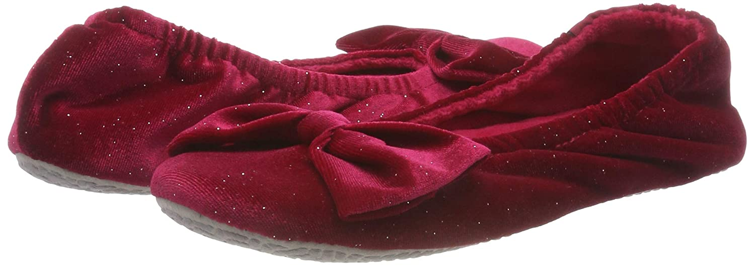 7b38f469815 Isotoner Sparkle Big Bow Ballet Slippers