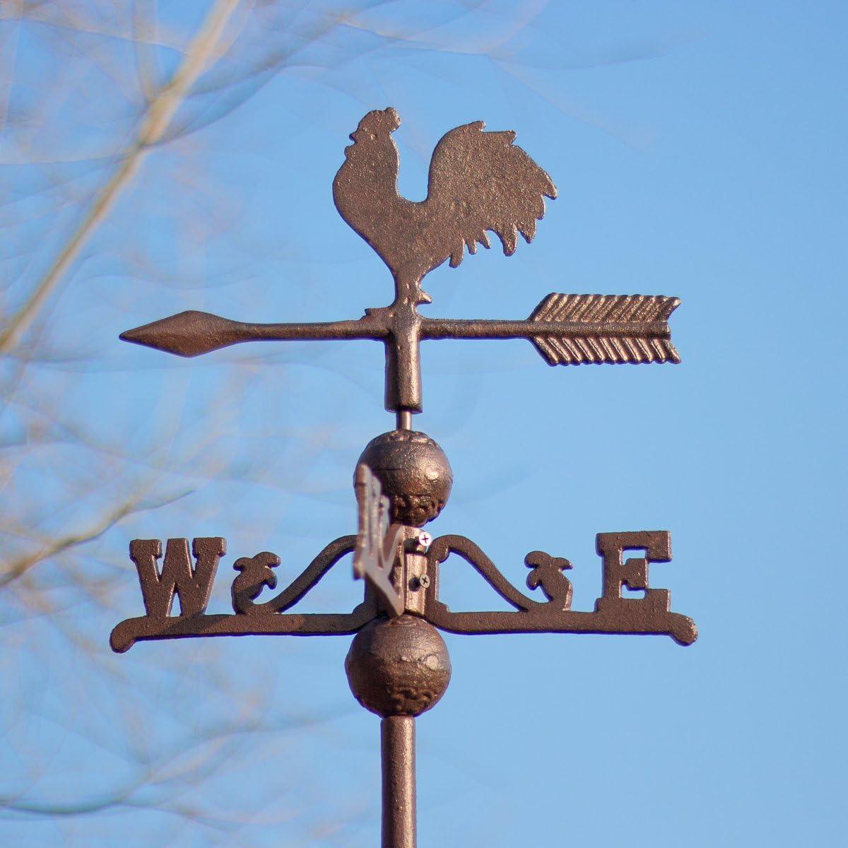 Antikas - veleta de viento para tejado hecho de hierro fundido diseño antiguo: Amazon.es: Jardín