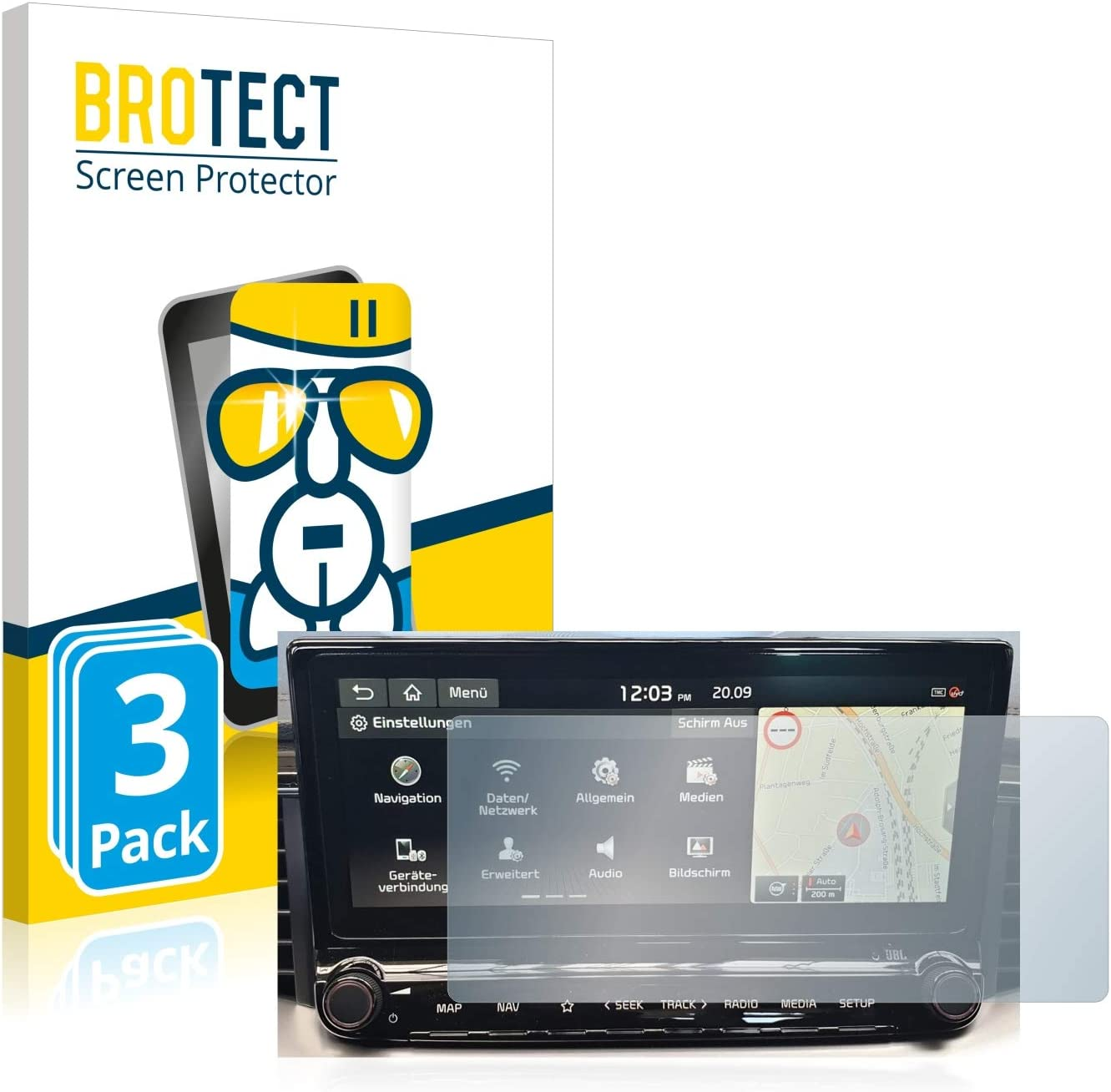 brotect Protection Ecran Verre Compatible avec Kia XCeed 2019 Infotainment System 10.25 3 Pi/èces Film Protecteur Vitre 9H Anti-Rayures
