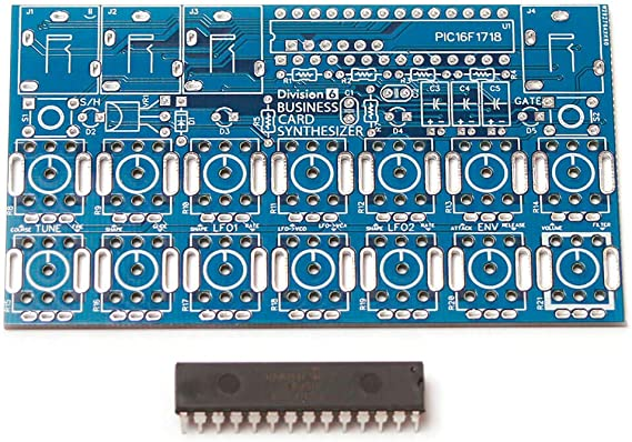 Division 6 Business Card Synthesizer PCB and IC
