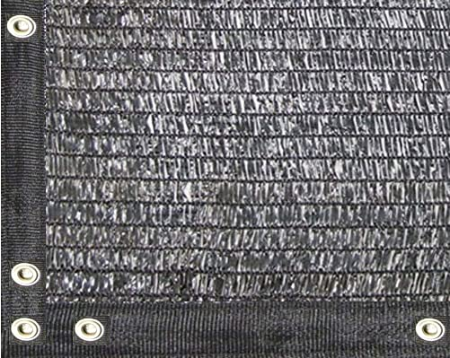 EasyShade 40 Black Shade Cloth Taped Edge with Grommets UV 12ft x 24ft