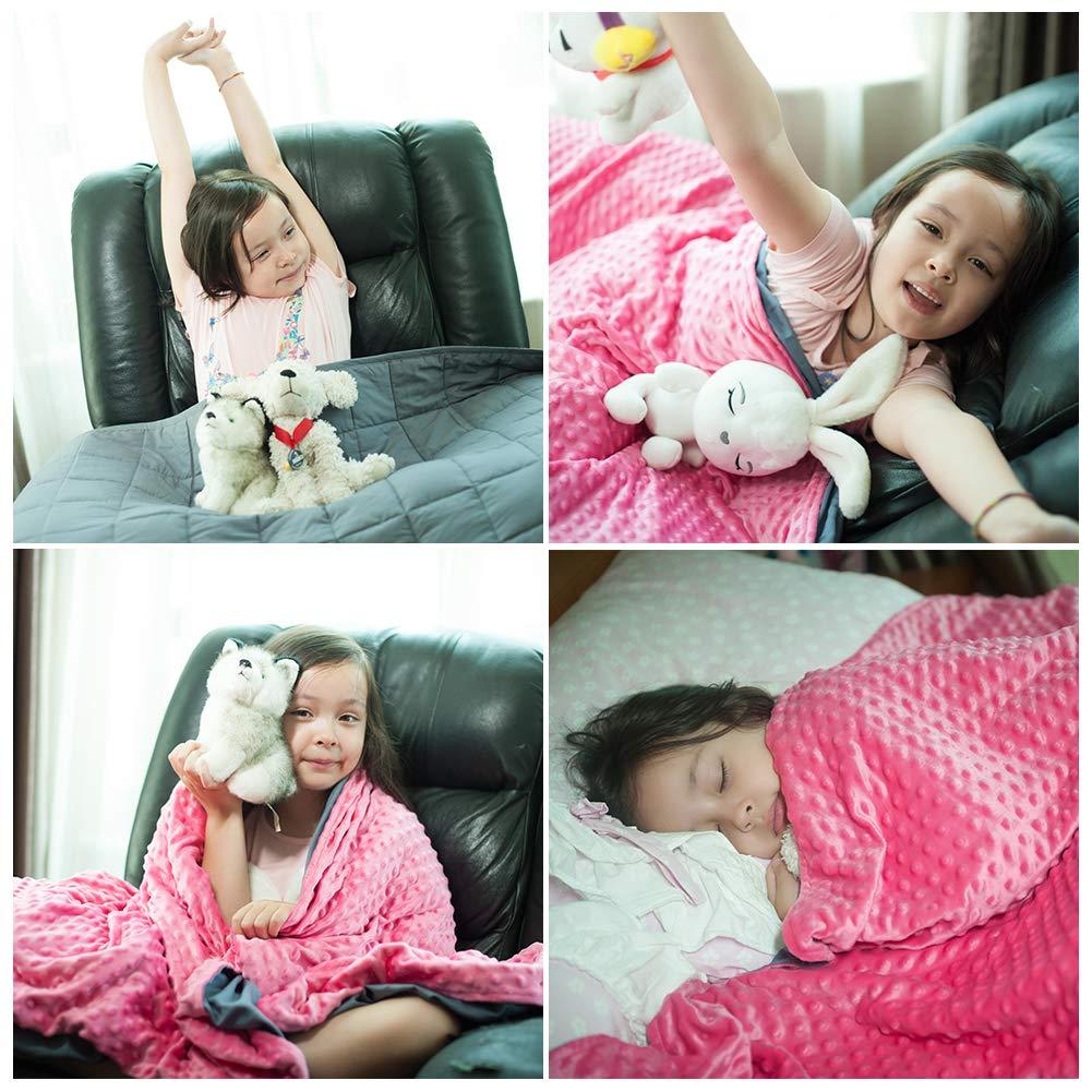 Daverose Schwere Decke f/ür Kinder 3.2 kg 97 158cm Therapiedecke Kinder mit abnehmbare Bezug ZLT-PG97-7