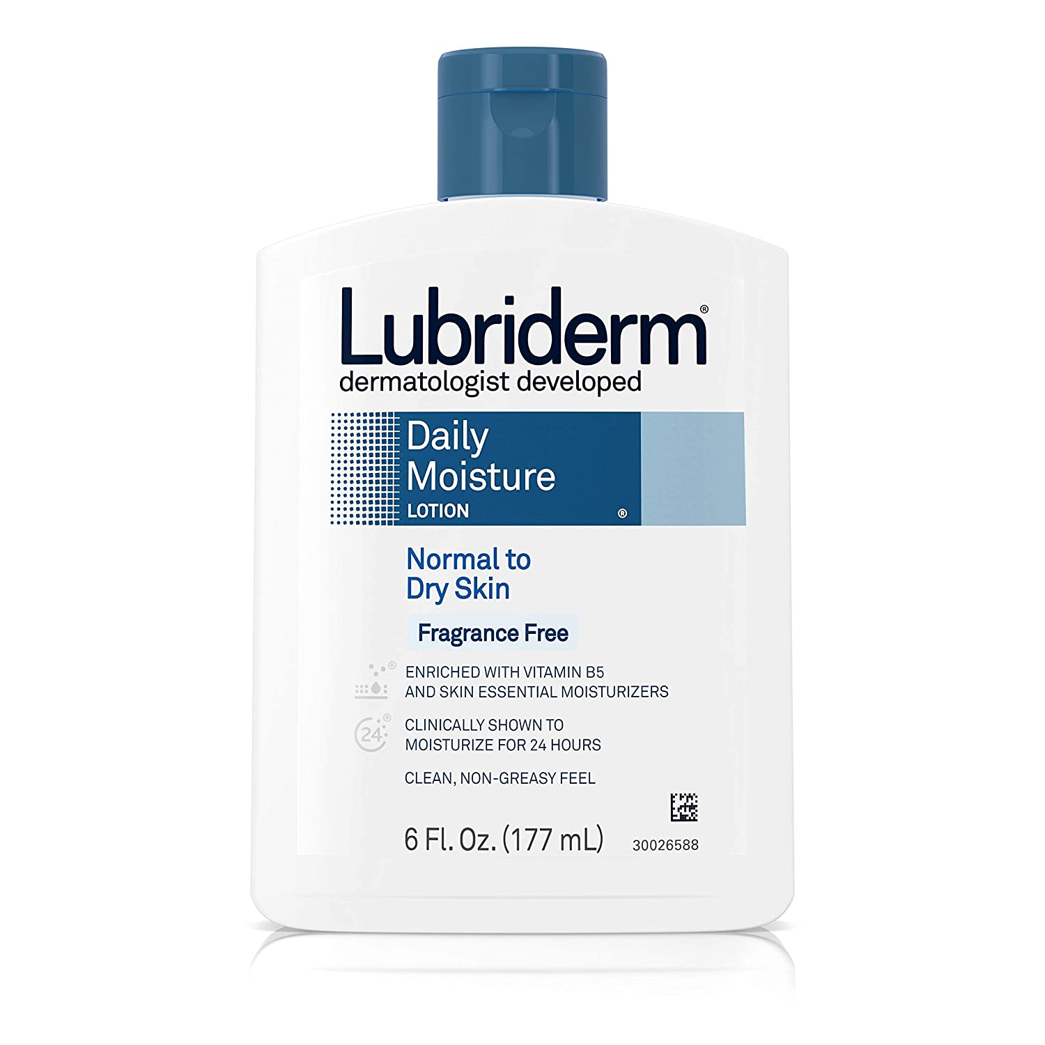 Lubriderm Lot Ff Size 6z Lubriderm Daily Moisture Lotion For Normal To Dry Skin Fragrance Free