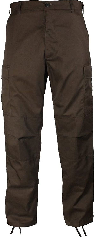 Solid Colors 6-Pocket Military Tactical Poly/Cotton Bdus Cargo Fatigue BDU Pants ERGAT171716604472