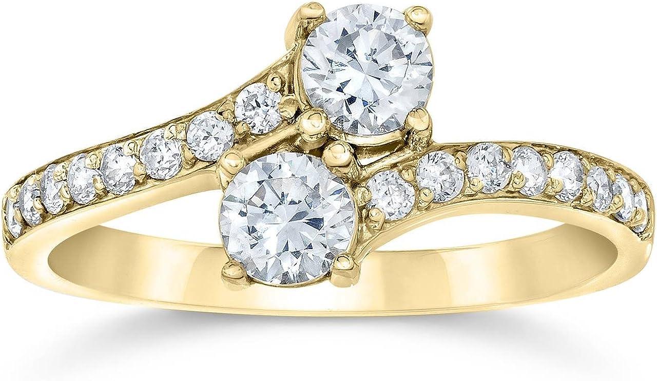 1 Carat Forever Us 2 Stone Diamond Ring 10K Yellow Gold