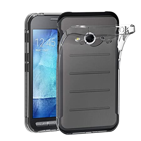 Samsung Galaxy Xcover 3 Hülle, iVoler Premium Hülle Tasche Schutzhülle Case Cover Transparent Klare Weiche TPU Silikon Gel Sc