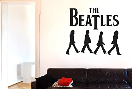 The Beatles Wall Stickers Art Decals - Large (Height 57cm x Width 67cm) Black  sc 1 st  Amazon UK : beatles wall decals - www.pureclipart.com