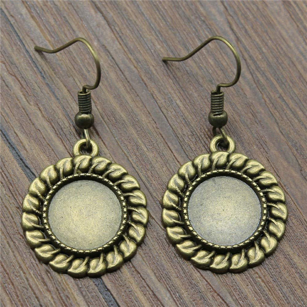 WYSIWYG 3 Pairs Drop Earrings Earrings for Girls Simple Small Grass Single Side One Hanging Inner Size 12mm Round with Earring Backs Stopper