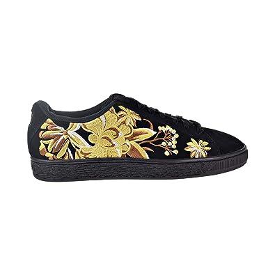 809a05be349 Puma Suede Hyper Emb Women s Shoes Puma Black Puma Team Gold 368137-02 (
