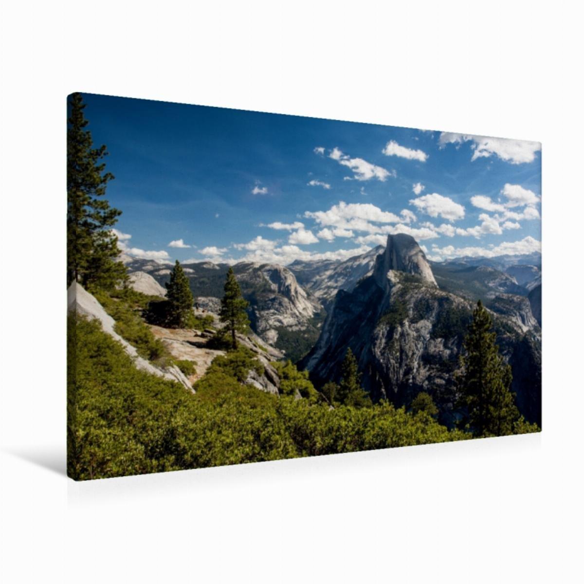 Premium Textil-Leinwand 90 cm x 60 cm quer Half Dome - Yosemite