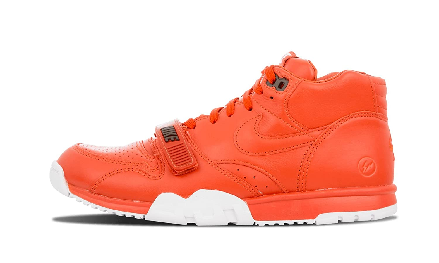 675952c5204 Nike Mens - Air Trainer 1 Mid SP Fragment  RARE  - BNIB - No Lid - Rust  Orange White - UK 9  Amazon.co.uk  Shoes   Bags