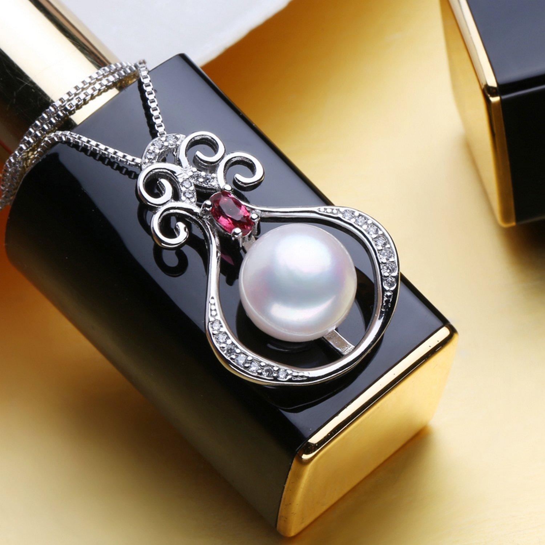 CS-DB Jewelry Silver Romantic Pearl Charm Ethnic Chain Charm Pendants Necklaces