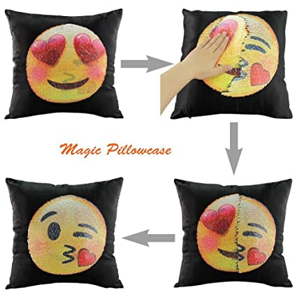 Amazon.com: DQDZ Emoji funda de almohada intercambiables ...
