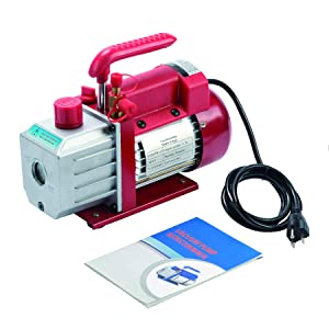 Orion Motor Tech 4.5CFM Vacuum Pump 1 Stage for AC HVAC Refrigerant Recharging, 1/3HP, 1/4 inch Flare, 1/2 inch Acme Inlet