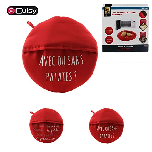 Cocedor de patatas para microondas – Color rojo: Amazon.es