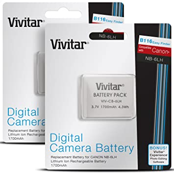 Amazoncom 2 Pack Vivitar NB6L NB6LH Batteries for Select