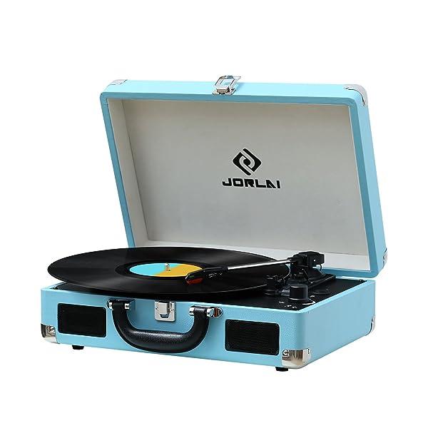 JORLAI Suitcase Turntable
