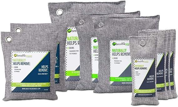 Bolsas purificadoras de aire de carbón de bambú verde (paquete de ...