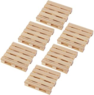 Juvale Coasters Mini Wooden Pallet Drink For Wine Glasses Beer Whiskey Cocktail