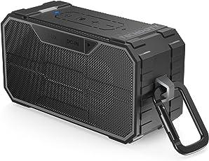 Bocina Bluetooth Portátil, TECHDOTY 10W Altavoz Bluetooth al Aire Libre Impermeable IPX6 Dual-Drivers con Microfóno Estéreo Inalámbrico, Conexión AUX para Piscina, Playa, Golf, Actividades al Aire Libre