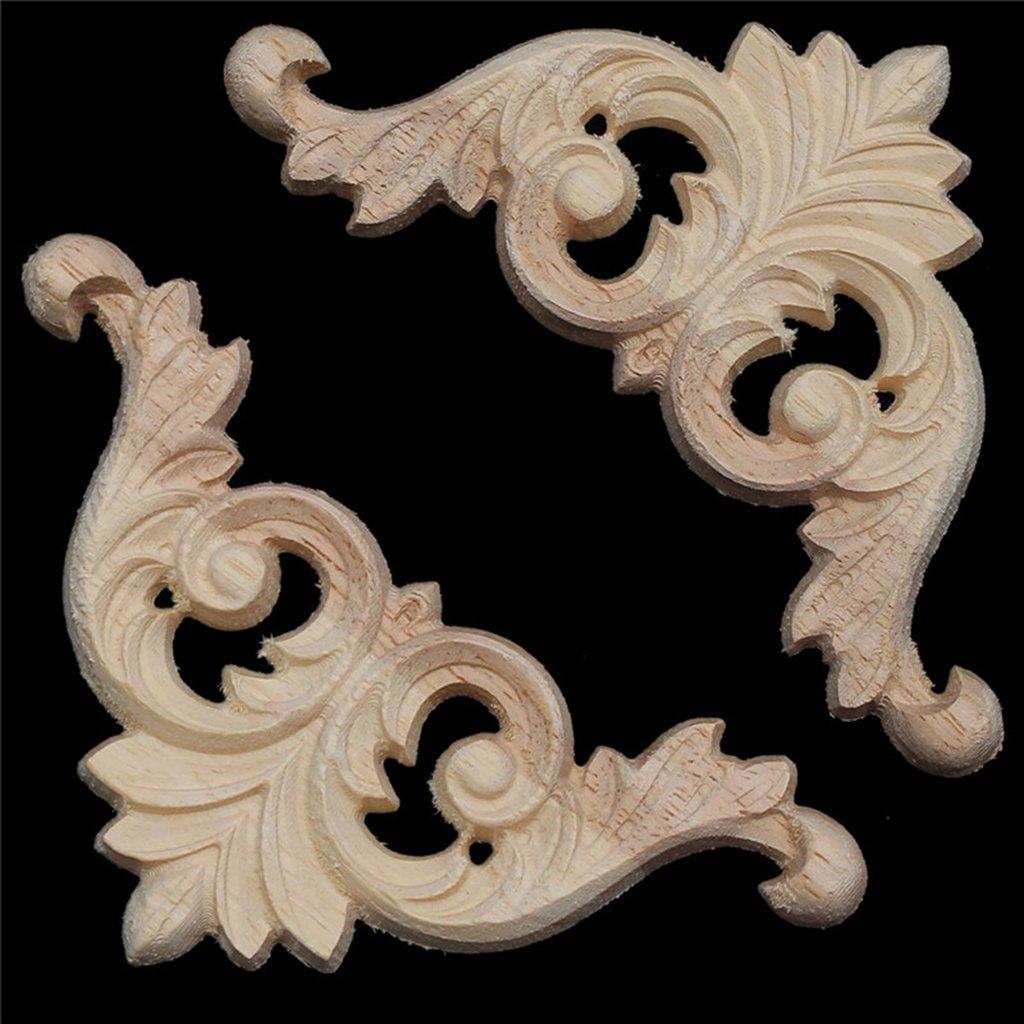 Sharplace Apliques Esquineros de Madera Decoracion de Muebles Cabeceros Aparadores Armarios # 1