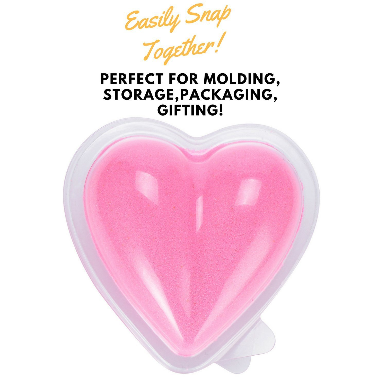Heart Plastic Bath Bomb Mold